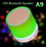 Voyant mini haut-parleur Bluetooth sans fil Portable A9 TF Caisson de basses de musique USB Box