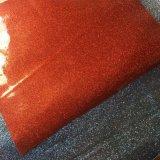 Кожа PU яркия блеска TPU украшенный лиственным орнаментом для сандалий ботинок мешков