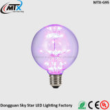 Бесплатные образцы E26 E27 ST64 3W декоративные Фиолетовый светодиодный индикатор