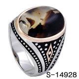 Anelli d'argento degli uomini di arrivo 925 della fabbrica dei monili di modo nuovi