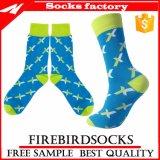 Оптовые носки платья людей носок хлопка Customed высокого качества конструкции способа