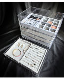 De acryl Doos van Juwelen met 5 Laden, voor Horloge/Ring /Bracelete/Earring/de Vertoning van de Halsband