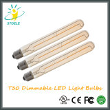 Bulbos tubulares de la energía del bulbo del filamento de Stoele T30 LED