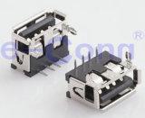 USBのコネクター女性の直角の2.0 4pin