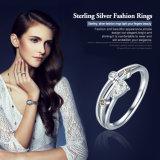 2017 кольцо перста Zircon падения воды стерлингового серебра обручального кольца 925 оригинала