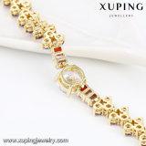 74652 Form Xuping buntes Steinschmucksachenzircon-Luxuxarmband im Gold 14k überzogen