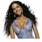 8Um Brasileiro Big Curl Hair Cabelo humano pleno Lace Peruca