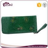 محفظة [غنغزهوو] صاحب مصنع, بيضاء خضراء سوداء [جنوين لثر] محفظة محفظة فراشة يطبع