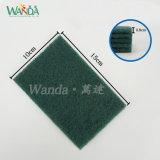 Garniture abrasive de lessivage de garniture de récurage de vert de produits d'entretien de ménage de ventes en gros