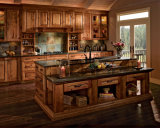 Kitchen Cabinet Model Hot-Selling Perfect Edging and Door Surfaces Cherry Solid Wood Kitchen Cabinet
