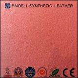 Cuir artificiel de PVC de couleur saumonée pour des chaussures, meubles, sofa, sac