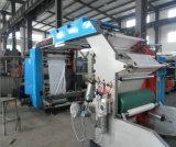 高精度3カラーFlexoの印刷プラスチックロールフィルム機械