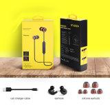 Receptor de cabeza de Byunite Eh-Bt-04 Bluetooth 4.1 en el auricular estéreo bilateral general de la tirilla de la camisa de los oídos magnéticos del metal del oído