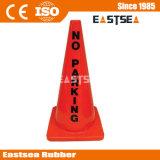Reflexo da borracha de aviso de PVC sem estacionamento Cone de tráfego
