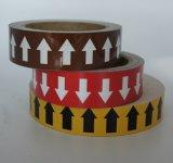 Het Glas van de Etiketten van de Tellers van de pijp parelt Weerspiegelende Band met AchterKleefstof
