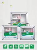 Aluminium-Erste HILFEen-Schrank für Medizin-Speicher mit Griff B012