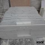 A vaidade de quartzo artificial de textura de mármore Top para banheiro