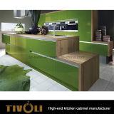 Cabinas de cocina modernas de Lamilnate de la chapa por encargo con la isla de cocina Tivo-0283h