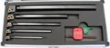 Cutoutil 6+1 7PC 인치 크기 Indexable 탄화물 도는 연장 세트