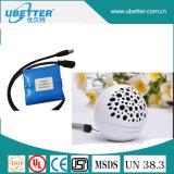 7.4V de Batterij van het Pak LiFePO4 van de Batterij van het 6400mAhLithium voor e-Hulpmiddel