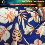 인쇄에 있는 보통 폴리에스테 복숭아 피부 직물, 꽃은 인쇄했다 Beachwear (YH2140)를 위한 직물을