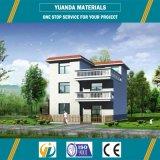 Casa pré-fabricada pré-fabricada da casa de campo da construção de aço da luz das HOME
