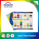 Brochure professionnelle de carte de couleur de peinture de mur d'architecture
