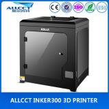 사무실에 있는 0.05mm 정밀도 300X300X300mm 탁상용 3D 인쇄 기계를 LCD 만지십시오