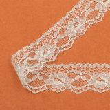 Lacet chimique de polyester de tissu de lacet de Tulle pour le lacet de procès de dames