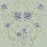 Papel pintado profundamente grabado del damasco del vinilo del PVC del material de construcción floral