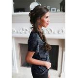 2017의 새로운 디자인된 여자 위장 V 목 느슨하게 t-셔츠 100%년 면 (17005)