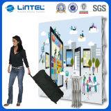 Portable-freie stehende Hintergrund-Standplatz-Ausstellung-Fahnen-Bildschirmanzeige