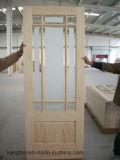 Porte en bois de chêne (KD04A-G) (porte en bois solide)
