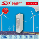 Renovables de energía solar del panel de batería OPzV 2V2000ah