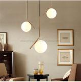 Metallo della sfera rotonda e lampada Pendant di vetro che passano indicatore luminoso per il servizio europeo