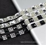 은 결정 1.5cm 폭 공상 신부 복장 벨트 손질 결혼 케이크 밴딩 모조 다이아몬드 결혼식 밴딩 (TS-048)에 명확한