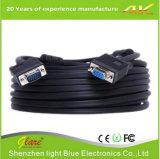 Color negro 6FT VGA al cable del ordenador del VGA