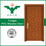 Belle porte en bois en verre de PVC en Chine