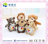 Plush animais diferentes relógios recheadas de brinquedos educativos de crianças