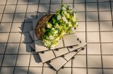 Tuile extérieure de paquet de porcelaine de jardin de DIY avec la base de PE