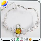 Blatt-hängendes Klee-Blumen-Armband des Charme-4