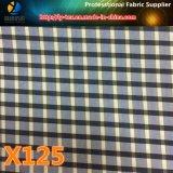 点の商品のPolyestrのヤーンによって染められる小切手の衣服ファブリック(X124-126)