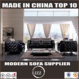 セットされる贅沢な居間の黒カラーソファー(LZ-077B)