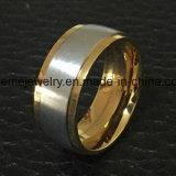 18k de gouden Juwelen Van uitstekende kwaliteit van de Ring van het Titanium van het Matwerk (TR1828)