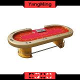 Da classe de luxe do casino de 96 polegadas tabela profissional resistente do póquer de Texas Holdem com noite Ym-Tb015 do diodo emissor de luz do ouro