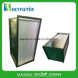 Rectángulo material del filtro del aire comprimido HEPA de la fibra de vidrio