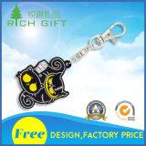 Fördernder kundenspezifischer Form-weicher Gummi Belüftung-Schlüsselring für das Bekanntmachen der Geschenke