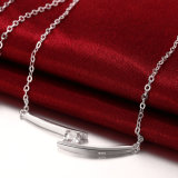 Populairste Zircon Halsband Vierkante Ziron met de Zilveren Geplateerde Halsband van de Gift van de Vrouwen van de Verkoop van de Tegenhanger Hete