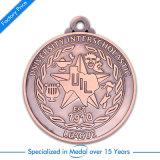 Medaglia di rame antica su ordinazione di pallacanestro del premio del metallo del ricordo
