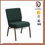 普及した高品質青いファブリック教会ホールの椅子(BR-J031)